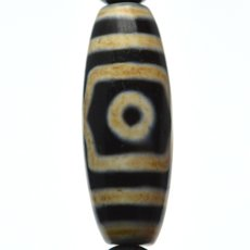 画像8: 三眼天珠・ホークスアイ - 12mm玉、サイズ17cm (8)