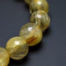 画像7: ゴールドルチルクォーツ - 11~12mm玉、サイズ17cm (7)