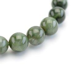 画像5: グリーンルチルクォーツ(アクチノライトインクォーツ) - 8.5mm玉、サイズ16cm (5)