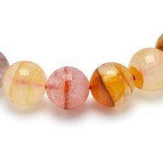 画像3: オーロラクォーツ(錦鯉水晶) - 10.5mm玉、サイズ15.5cm (3)