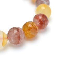 画像6: オーロラクォーツ(錦鯉水晶) - 10.5mm玉、サイズ15.5cm (6)