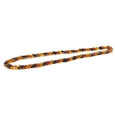 画像1: バルティックアンバー(琥珀)、バルト海リトアニア産 - リーフ型連ネックレス、サイズ約45cm【ケース付】 (1)