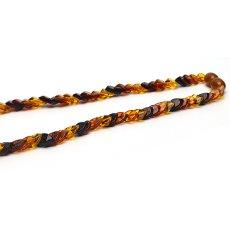 画像3: バルティックアンバー(琥珀)、バルト海リトアニア産 - リーフ型連ネックレス、サイズ約45cm【ケース付】 (3)