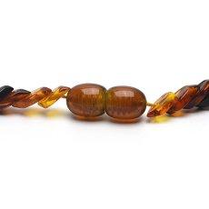 画像4: バルティックアンバー(琥珀)、バルト海リトアニア産 - リーフ型連ネックレス、サイズ約45cm【ケース付】 (4)