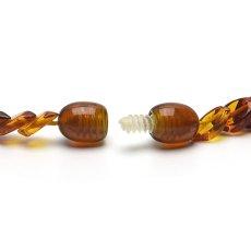 画像5: バルティックアンバー(琥珀)、バルト海リトアニア産 - リーフ型連ネックレス、サイズ約45cm【ケース付】 (5)