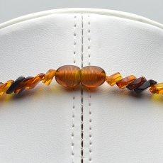 画像12: バルティックアンバー(琥珀)、バルト海リトアニア産 - リーフ型連ネックレス、サイズ約45cm【ケース付】 (12)