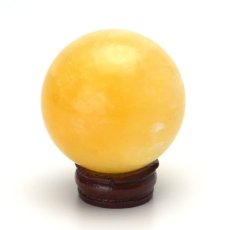 画像3: アラゴナイト丸玉スフィア - 約48mm【台座付】 (3)