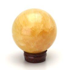 画像2: アラゴナイト丸玉スフィア - 約54mm【台座付】 (2)