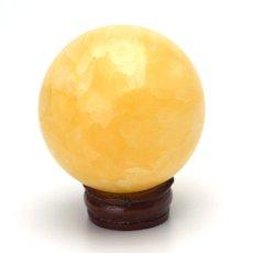 画像2: アラゴナイト丸玉スフィア - 約52mm【台座付】 (2)