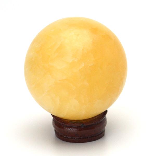 画像1: アラゴナイト丸玉スフィア - 約52mm【台座付】 (1)